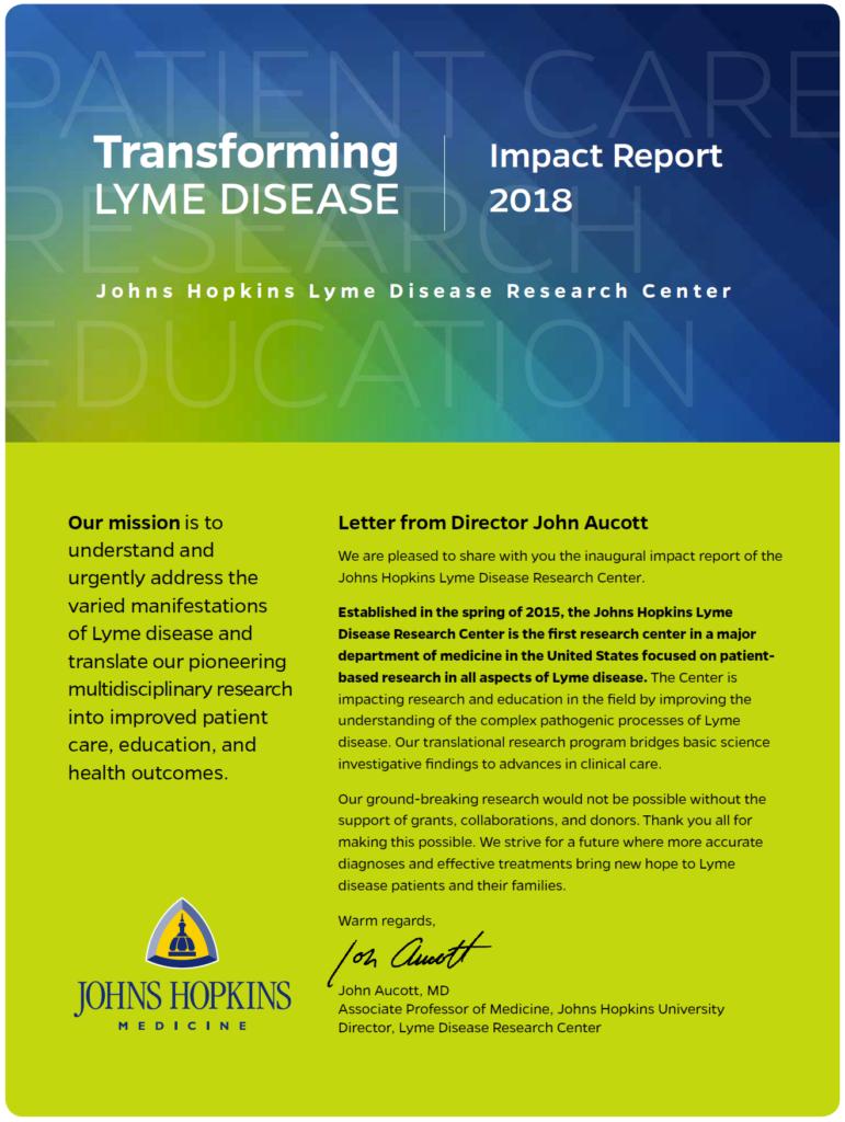Impact Report : Johns Hopkins Lyme Disease Research Center