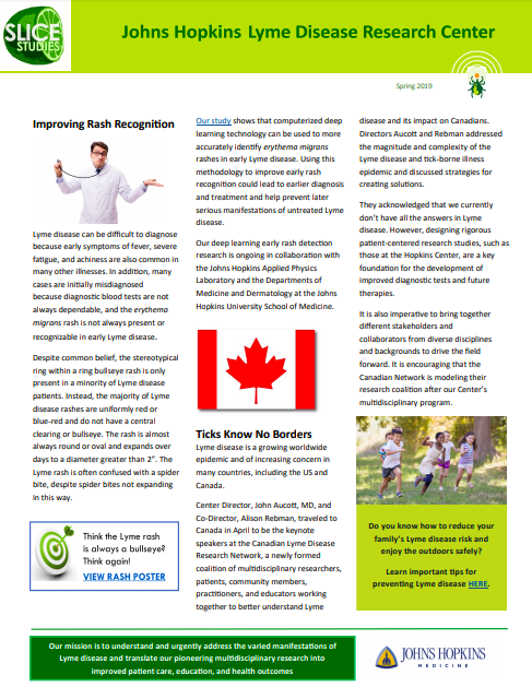 Lyme Disease Research Center Newsletters : Johns Hopkins
