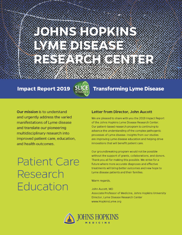 Johns Hopkins Lyme Disease Research Center Impact Report 2019